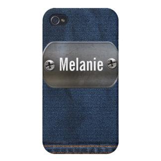 デニムの質4の包装 iPhone 4/4S CASE