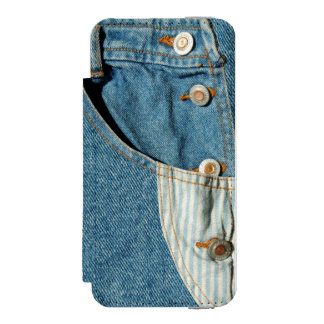 デニムの青いジーンのポケット INCIPIO WATSON™ iPhone 5 財布 ケース