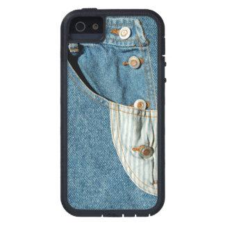 デニムの青いジーンのポケット iPhone SE/5/5s ケース