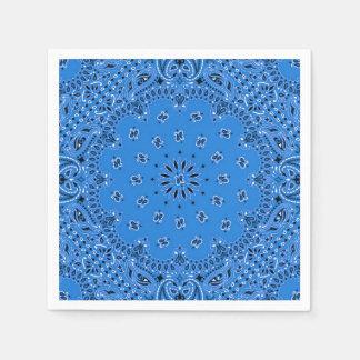 デニムの青いペイズリーのバンダナのスカーフBBQのピクニックナプキン スタンダードカクテルナプキン