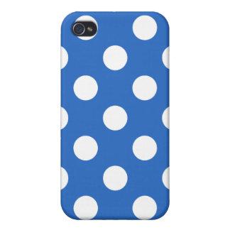 デニムの青い水玉模様のIphoneの箱 iPhone 4 ケース