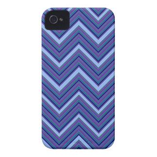 デニムの青のシェブロン Case-Mate iPhone 4 ケース