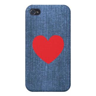 デニムの青 iPhone 4/4S ケース