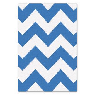 デニム青くはっきりしたでモダンなシェブロン 薄葉紙