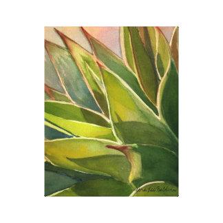 デブラリーBaldwin著リュウゼツランのattenuataの水彩画 キャンバスプリント
