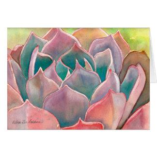 デブラリーBaldwin著Echeveriaの水彩画カード カード