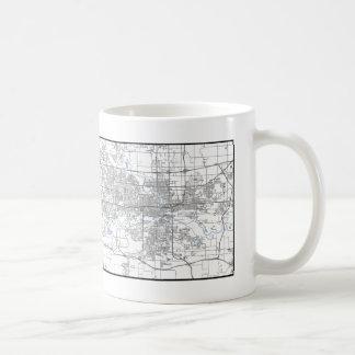 デモインの地図のマグ コーヒーマグカップ