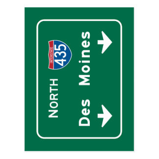 デモインのIAの交通標識 ポストカード