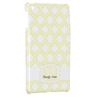 デュオ調子のモロッコの格子垣(黄色) iPad MINIカバー