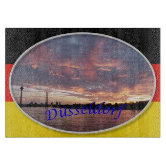デュッセルドルフの日没のまな板 カッティングボード