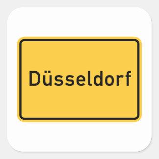 デュッセルドルフ、ドイツの交通標識 スクエアシール