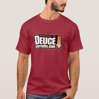 デュースの兄弟のロゴのオレンジ(暗い) Tシャツ