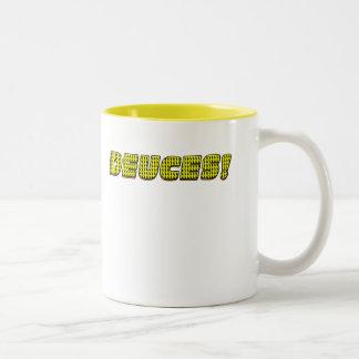 デュース黄色オレンジ ツートーンマグカップ