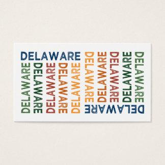 デラウェア州かわいいカラフル 名刺