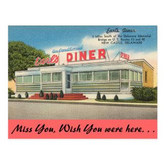 デラウェア州の伯爵のダイナー ポストカード