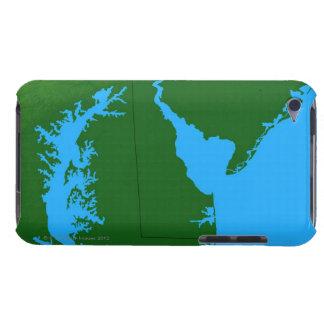デラウェア州の地図 Case-Mate iPod TOUCH ケース