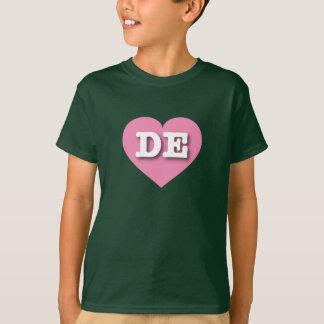 デラウェア州ピンクのハート-大きい愛 Tシャツ