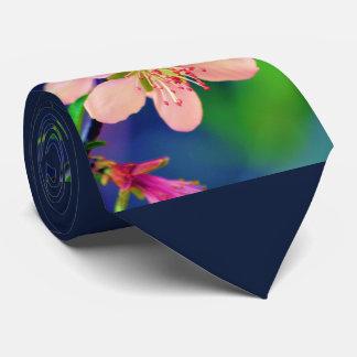 デラウェア州モモの花 ネクタイ