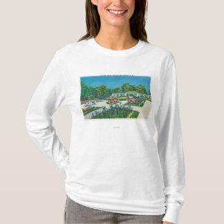 デラウェア州公園のバラ園の眺め Tシャツ