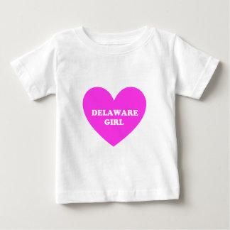 デラウェア州女の子 ベビーTシャツ