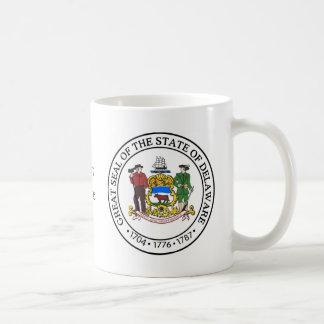 デラウェア州州のシールおよびモットー コーヒーマグカップ