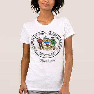 デラウェア州州のシールおよびモットー Tシャツ