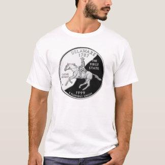 デラウェア州州の四分の一 Tシャツ