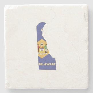 デラウェア州州の旗および地図 ストーンコースター