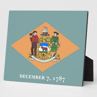 デラウェア州州の旗のプラク フォトプラーク