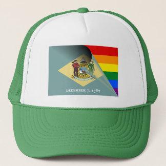 デラウェア州旗のゲイプライドの虹 キャップ