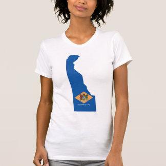 デラウェア州旗の地図 Tシャツ