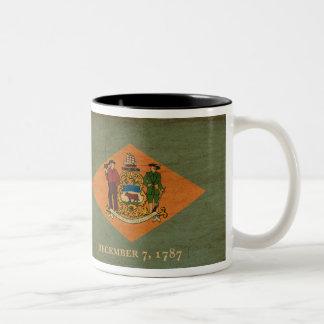 デラウェア州旗 ツートーンマグカップ