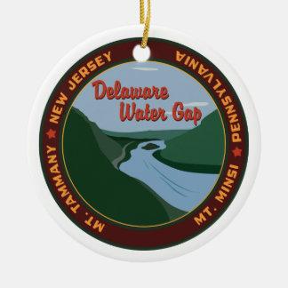 デラウェア州水ギャップ セラミックオーナメント