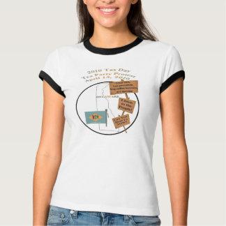 デラウェア州税日のお茶会の抗議のTシャツ Tシャツ