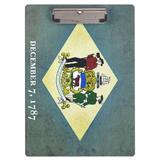 デラウェア州老化させた旗 クリップボード
