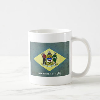 デラウェア州老化させた旗 コーヒーマグカップ