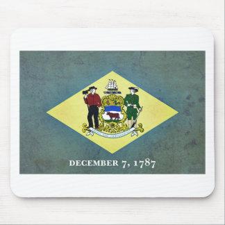 デラウェア州老化させた旗 マウスパッド