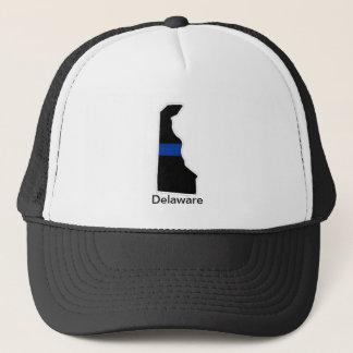 デラウェア州薄いブルーライントラック運転手の帽子 キャップ