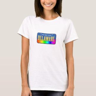 デラウェア州虹の州のティー Tシャツ
