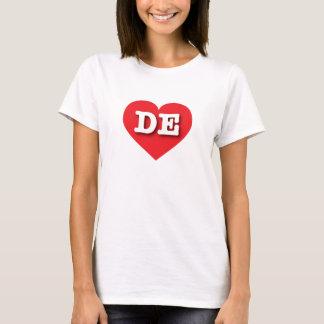 デラウェア州赤いハート-大きい愛 Tシャツ