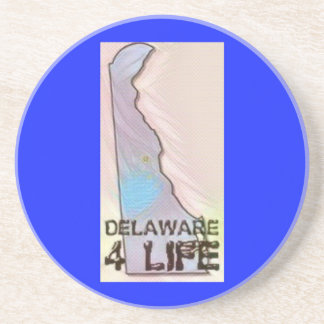 """""""デラウェア州4生命""""州の地図のプライドのデザイン コースター"""