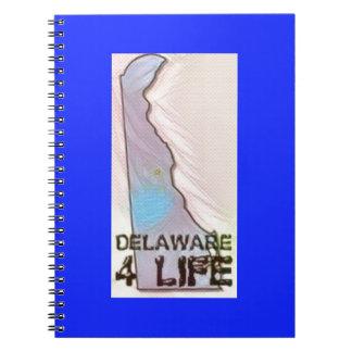 """""""デラウェア州4生命""""州の地図のプライドのデザイン ノートブック"""