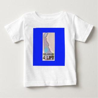 """""""デラウェア州4生命""""州の地図のプライドのデザイン ベビーTシャツ"""