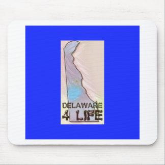 """""""デラウェア州4生命""""州の地図のプライドのデザイン マウスパッド"""