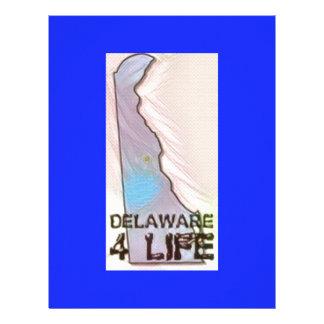 """""""デラウェア州4生命""""州の地図のプライドのデザイン レターヘッド"""