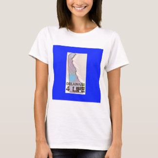 """""""デラウェア州4生命""""州の地図のプライドのデザイン Tシャツ"""