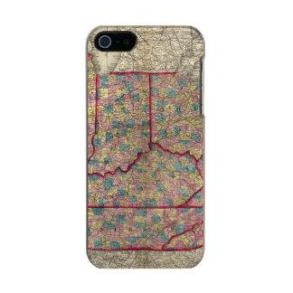 デラウェア州、イリノイ、インディアナおよびアイオワ メタリックiPhone SE/5/5sケース