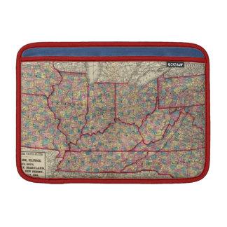 デラウェア州、イリノイ、インディアナおよびアイオワ MacBook スリーブ