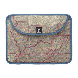 デラウェア州、イリノイ、インディアナおよびアイオワ MacBook PROスリーブ