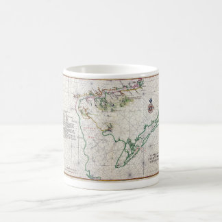 デラウェア湾のZwaanendael Swanendaelの地図1639年 コーヒーマグカップ